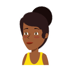 young black woman athlete character