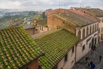 San Miniato village during truffle exhibition, Tuscany, Italy