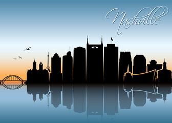 Nashville skyline - Tennessee
