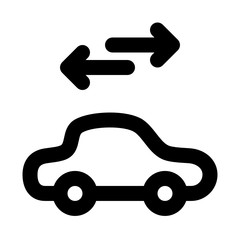 Carsharing Mobility Car City Arrows vector icon