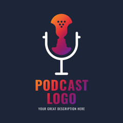 Podcast logotype.
