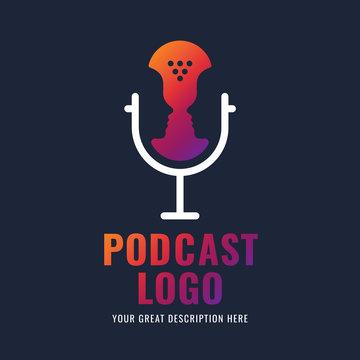 Podcast logotype.