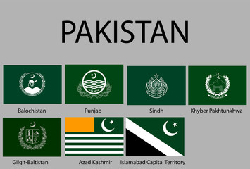 all Flags of regions of Pakistan.