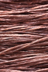 Copper wire as abstract industrial background