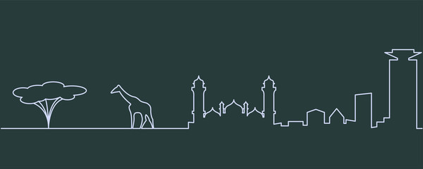Nairobi Single Line Skyline