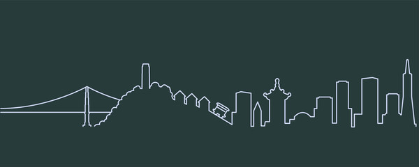 San Francisco Single Line Skyline