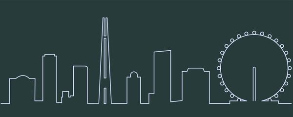 Singapore Single Line Skyline