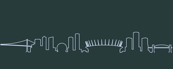 Vancouver Single Line Skyline Fototapete