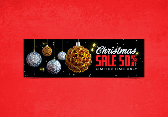 Christmas Sale Mobile Banner Layout