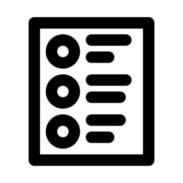Debriefing List Check Debrief vector icon