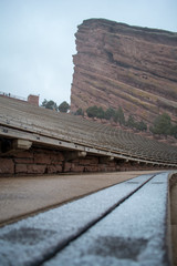 Snowy day at Red Rocks