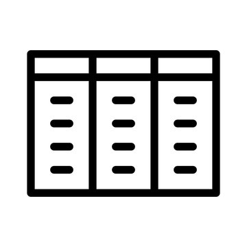 Datatable Table Excel Sheet Database Sql vector icon