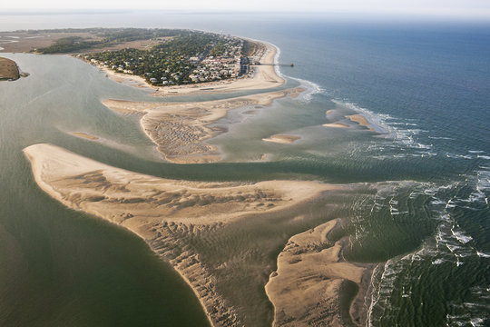 Aerial view of Tybee Island Georgia