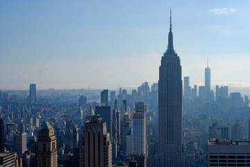 Empire state building and Manhattan from Rockeffeler center