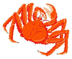 タラバガニ たらば蟹 鱈場蟹 白背景