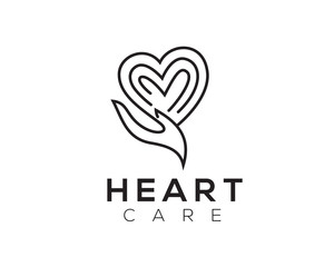 heart care logo Design Inspiration