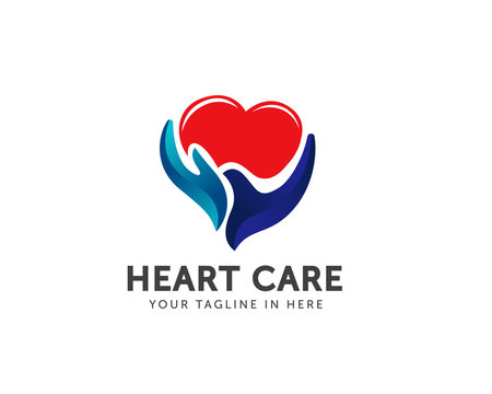 hand Heart care logo
