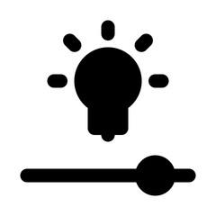 Efficacy Lamp Settings Slider Smart Home vector icon