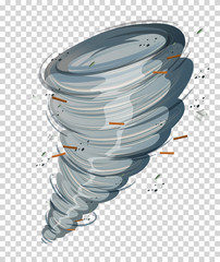 A cyclone on transparent background