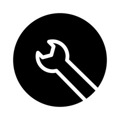 Installment Wrench Work Garage Factory vector icon