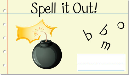 Spell it out bomb