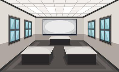 Interior of classroom scene