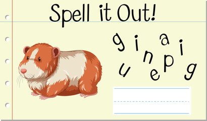 Spell it out guinea pig