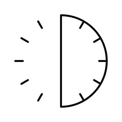 Half Time Watch Timer Countdown vector icon