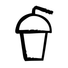 Iced Coffee Frappe Cafe Restaurant Bar Coffein Coffee vector icon