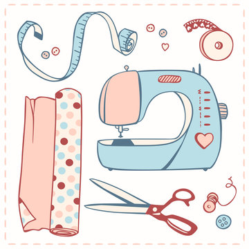 set of items for needlework
