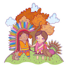 American indian girl cartoon