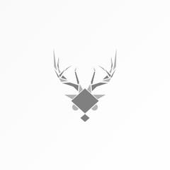 elegant abstact deer logo design