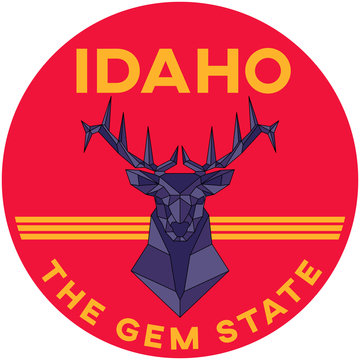 idaho: the gem state | digital badge
