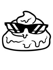 cool sonnenbrille scheiße kot ekelig gesicht haufen häufchen kacke comic cartoon design clipart lachen gestank