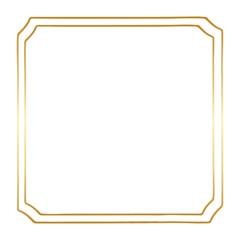 Golden Square Vintage Style Vector Border Frame