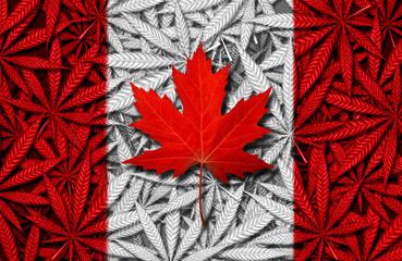 Canadian Cannabis Concept