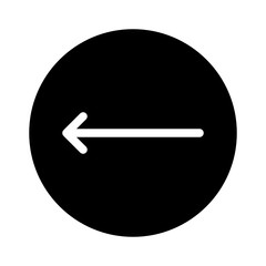 Left Thin Arrow Direction Move Arrows.7 vector icon
