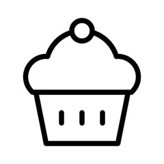 Muffin Bakery Food Restaurant Bar Diner Drink vector icon