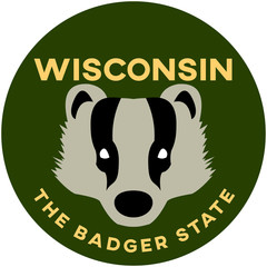 wisconsin: the badger state | digital badge