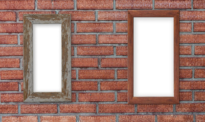 Background of old vintage brick wall, Red brick wall texture background.