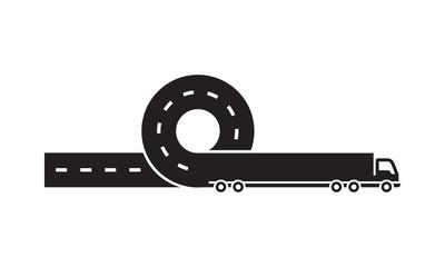 Black logistic logo