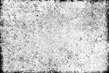 Grunge background black and white. Texture of chips, cracks, scratches, scuffs, dust, dirt. Dark monochrome surface. Old vintage vector pattern