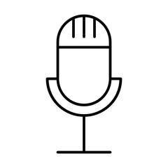 Microphone Music Sound Song Melody Tune vector icon