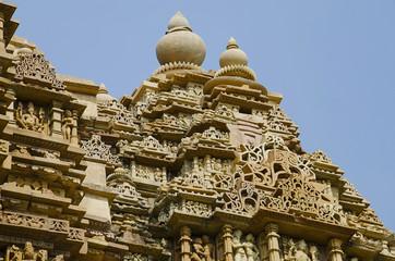 KANDARIYA MAHADEV TEMPLE, Shikara - Top View, Western Group, Khajuraho, Madhya Pradesh, UNESCO World Heritage Site