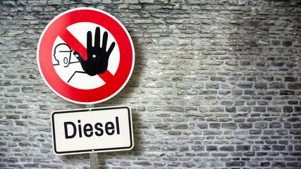 Schild 389 - Diesel