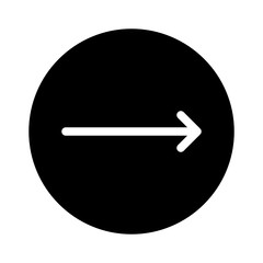 Right Thin Arrow Direction Move Arrows vector icon