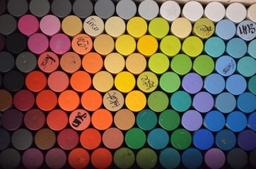 Bombes de peinture - nuancier de couleur