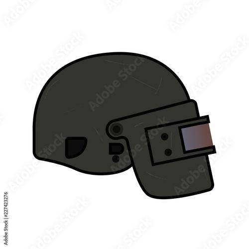 Helmet Level 3 From Pubg Flat Style Icon Logo Vector Helmet