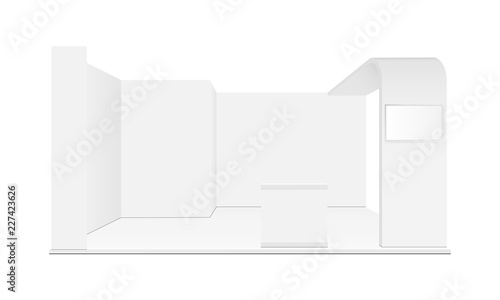 Blank exhibition trade show booth mockup  Vector illustration