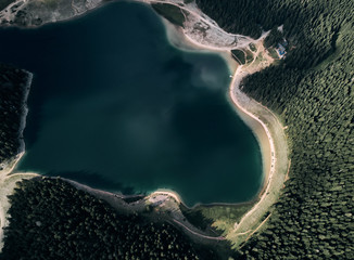 Montenegro. Durmitor national Park. Black lake. The view from the top.